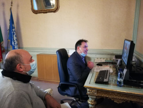 Vice Presidente della Provincia di Cremona Rosolino Azzali con il Presidente Paolo Mirko Signoroni